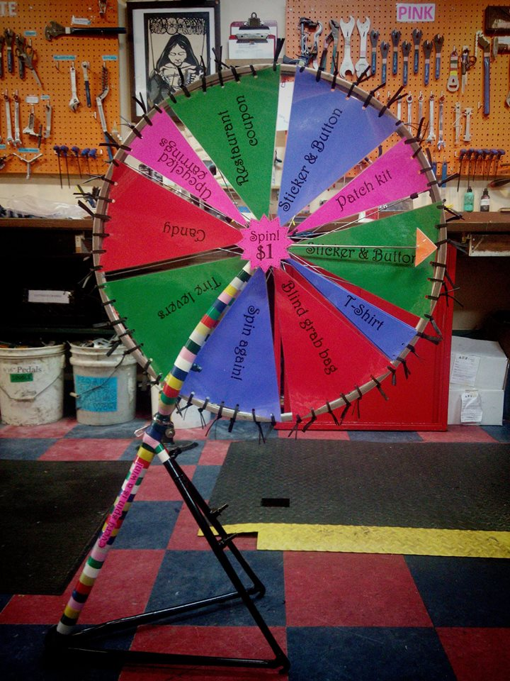 Prize wheel at Polkaholics show