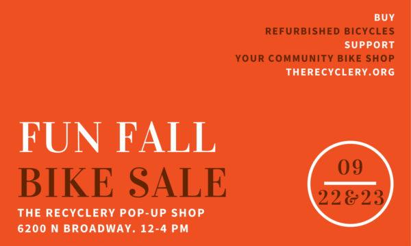 Fun Fall Bike Sale at 6002 N Broadway
